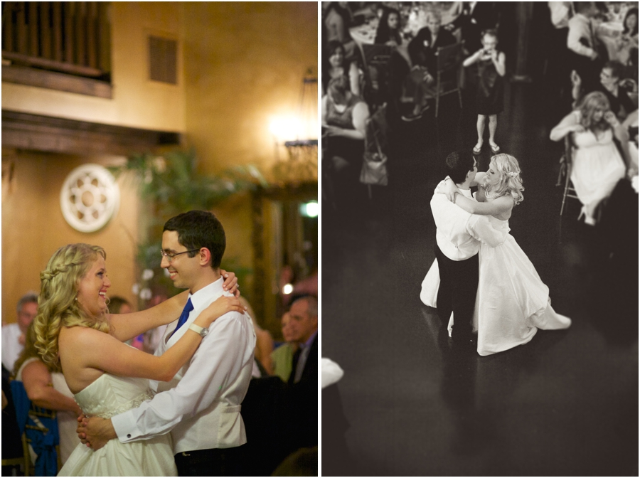bride and groom dancing at wedding reception, vintage wedding photographers, raleigh nc