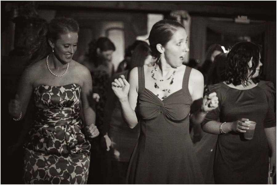 guests dancing at barclay villa reception, vintage wedding photographers, raleigh nc