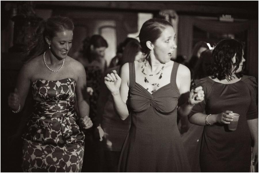 guests dancing at barclay villa reception, vintage wedding photographers, raleigh nc