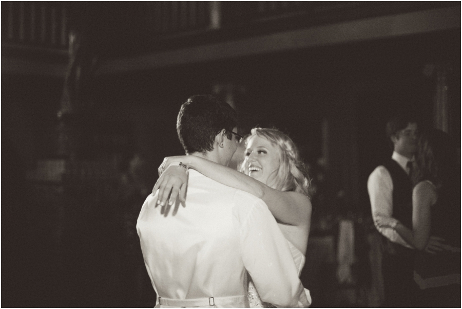 bride and groom on the dance floor, vintage wedding photographers, raleigh nc