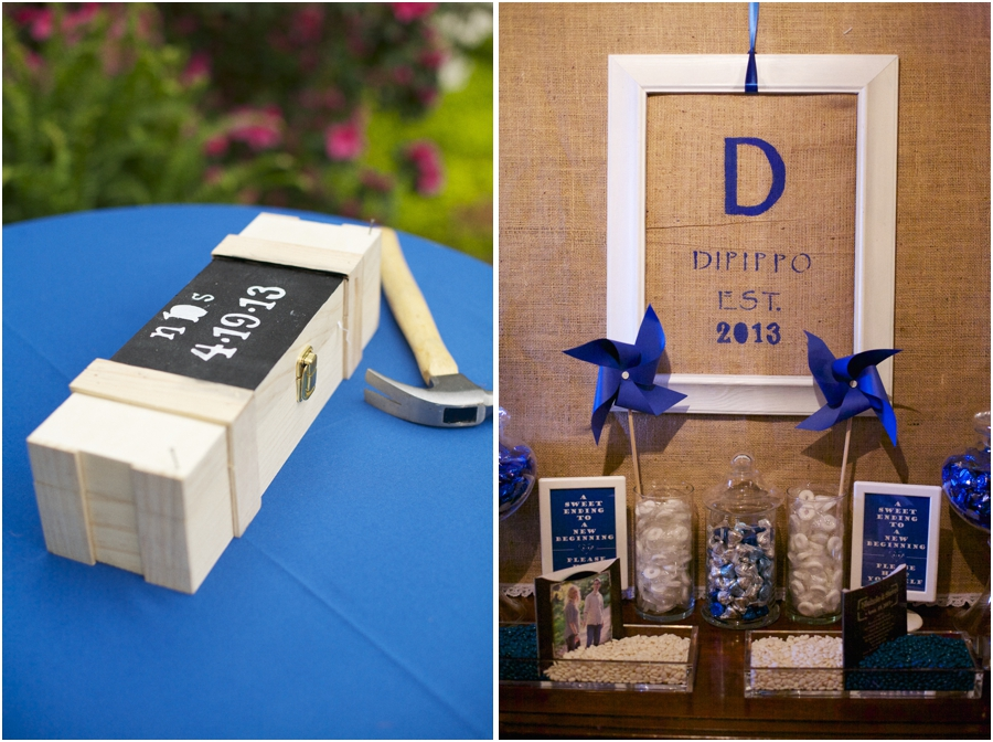 cute wedding traditions, bottle of wine nailed shut to be enjoyed on the first anniversary, rustic wedding favor table decor