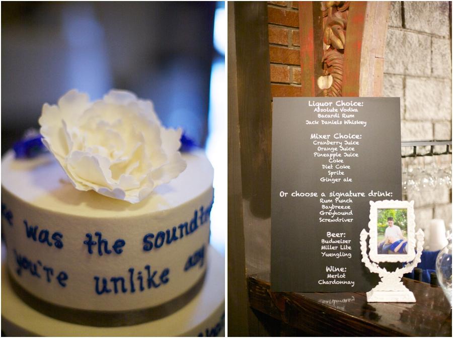 beautiful personalized wedding cake from ashley cakes, southern wedding photographers