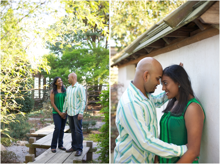 garden couple's photography, southern engagement photographers