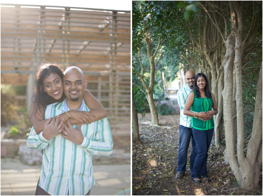 garden couple's photography, outdoor engagement photographers