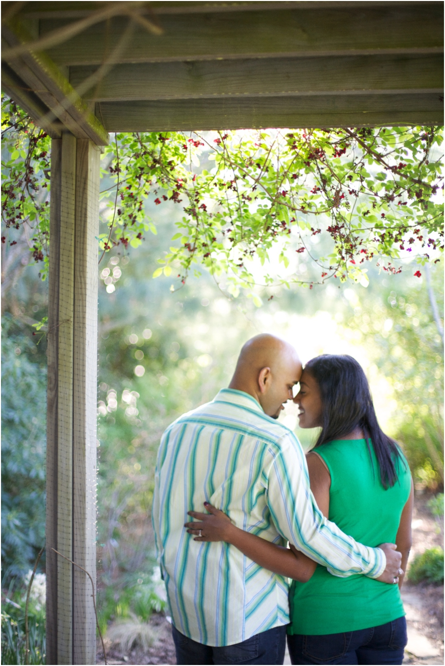 spring couple's photography, garden engagement photographers