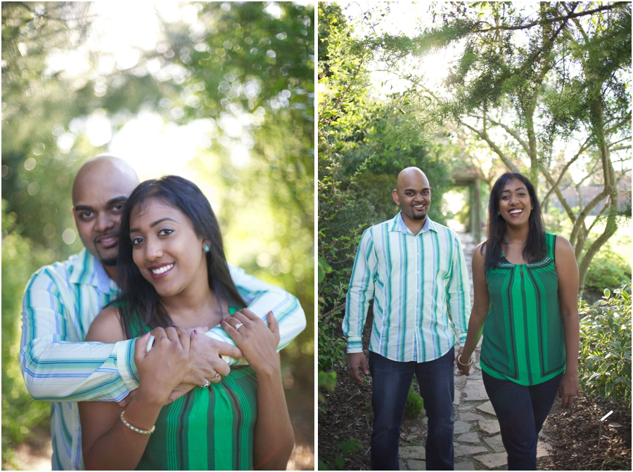 romantic garden couple's photography, spring engagement photography