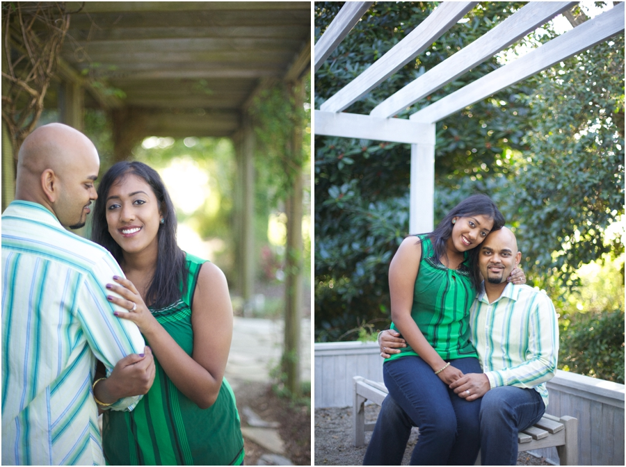 romantic engagement photography, southern garden engagement photography