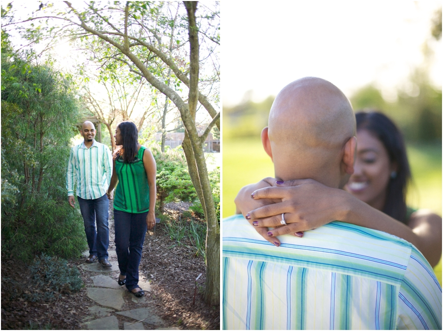 woodsy engagement photos, southern engagement photography