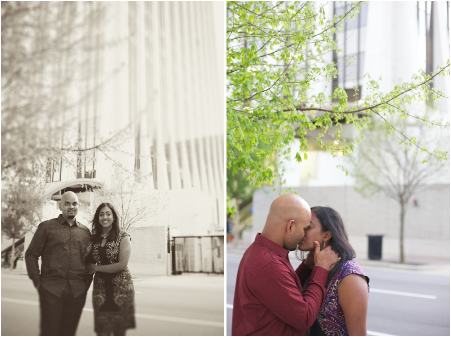 downtown raleigh engagement photography, city engagement photography
