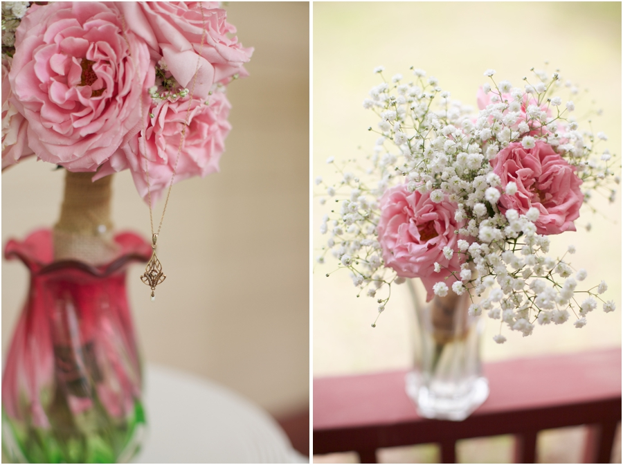 simple elegant bridal jewelry, beautiful diy baby's breath and pink rose bridal bouquet