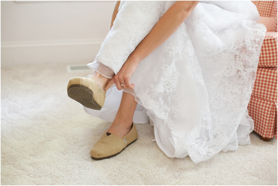bride wearing toms, southern wedding photography