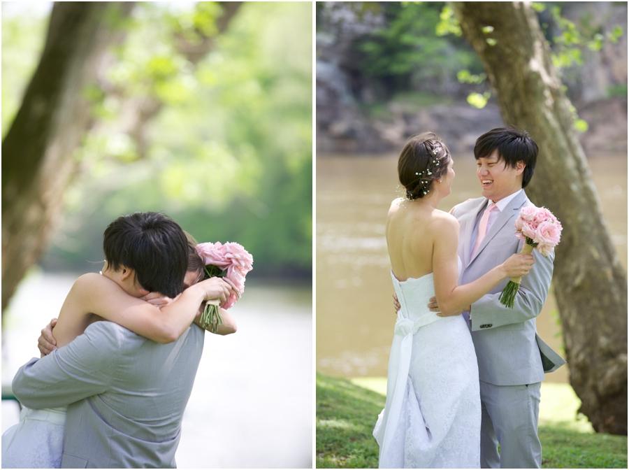 north carolina first look photography, romantic wedding photographers