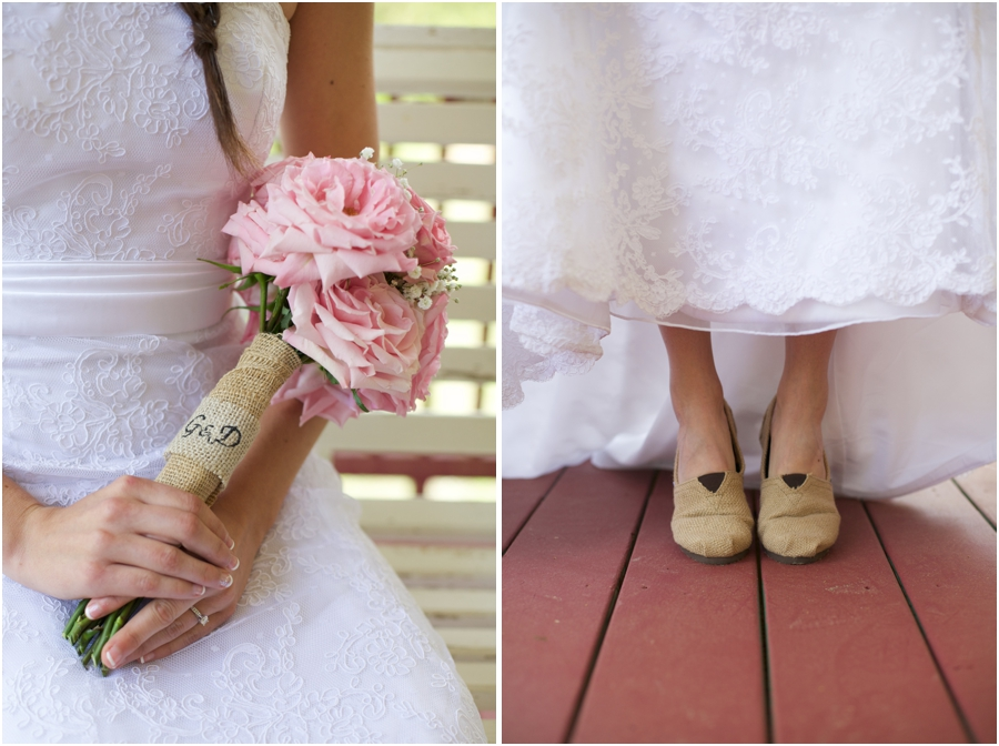 diy bridal bouquets, bride wearing toms