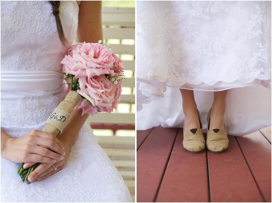 diy bridal bouquets, bride wearing toms