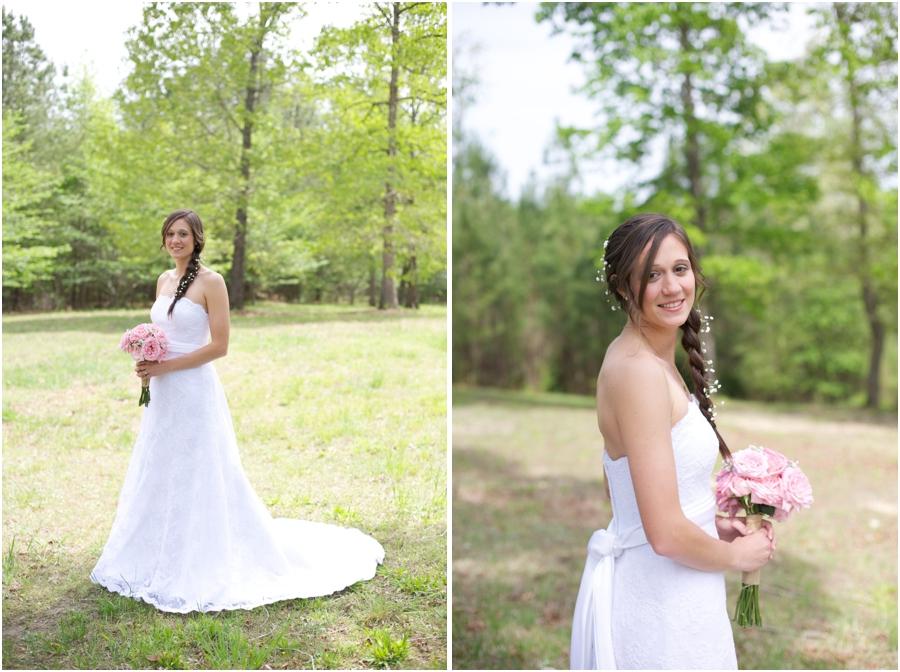 bridal braid, spring bridal photography, southern wedding photographers