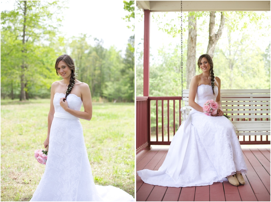 beautiful north carolina bridal photography, rustic wedding photographers