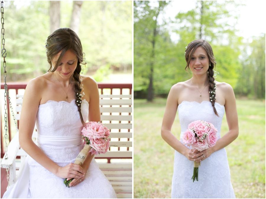southern bridal portraits, spring wedding photography