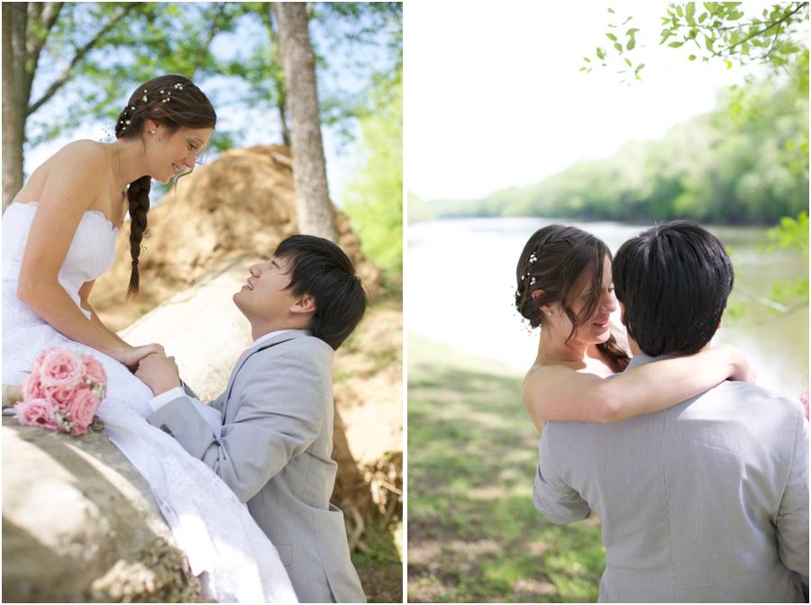 romantic wedding portraits, rustic spring wedding photography