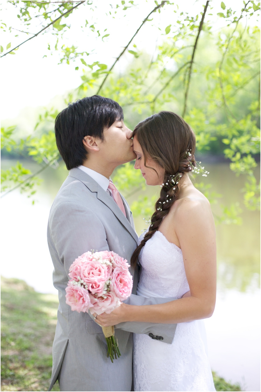 romantic spring wedding portraits, southern wedding photographers