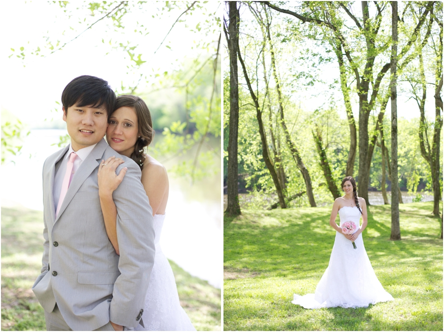 romantic wedding photography, beautiful forest bridal portraits