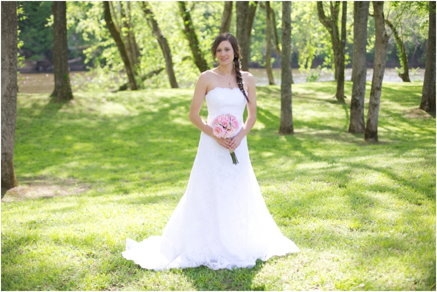 beautiful spring bridal photography, raleigh nc