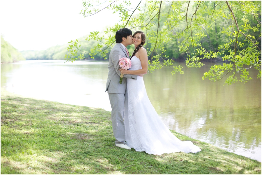 romantic riverside wedding photography, southern wedding photographers