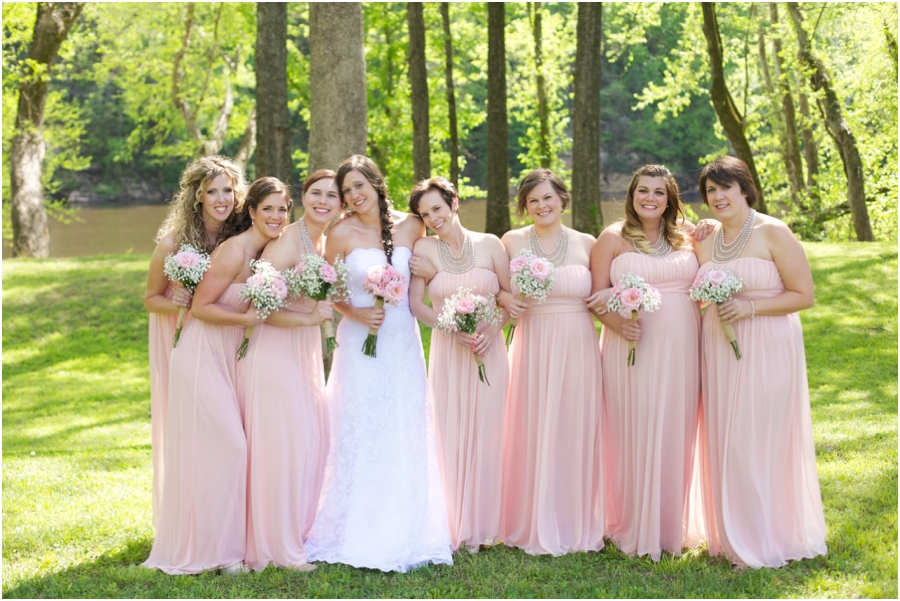 bridal party color schemes, blush pink and cream wedding color scheme, southern weddings, spring wedding photographers