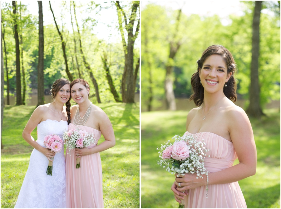 bridal party portraits, spring wedding photography