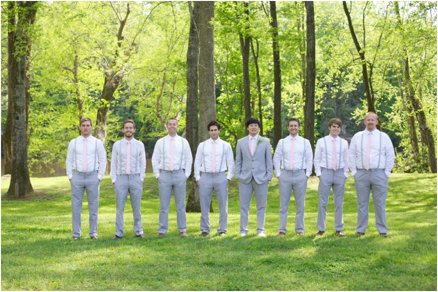 groomsmen portrait poses, southern weddings, spring wedding photography