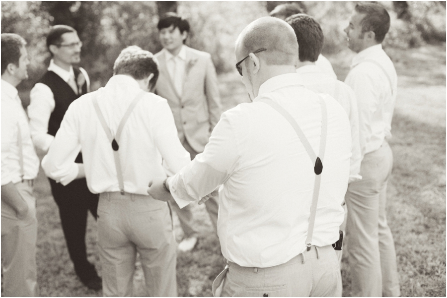 vintage wedding photography, groomsmen getting ready
