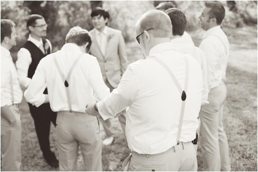 vintage wedding photography, groomsmen getting ready