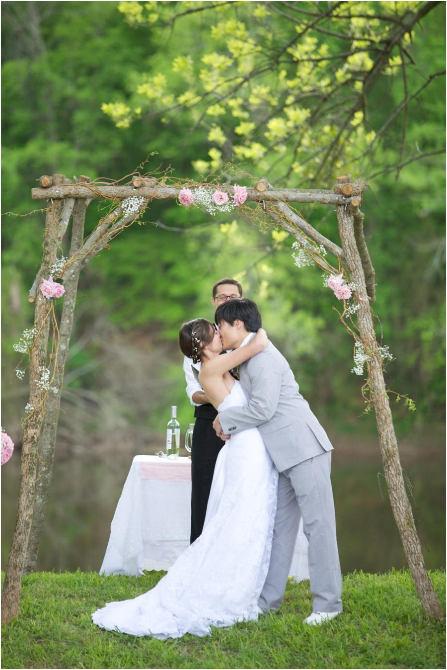 romantic spring wedding portraits, rustic wedding photography
