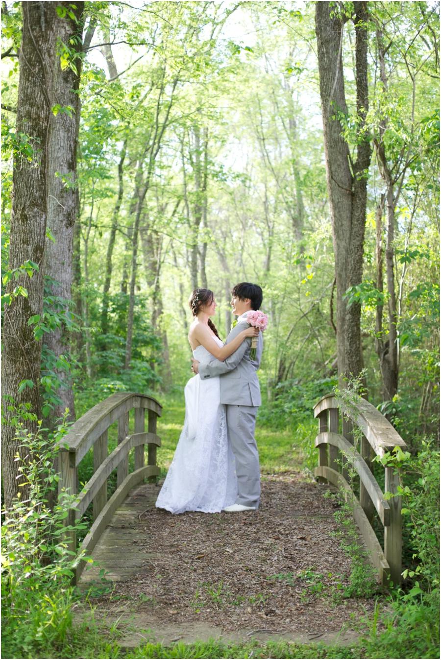 romantic forest wedding portraits, rustic wedding photography