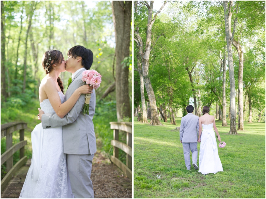 romantic wedding portraits, spring wedding photography