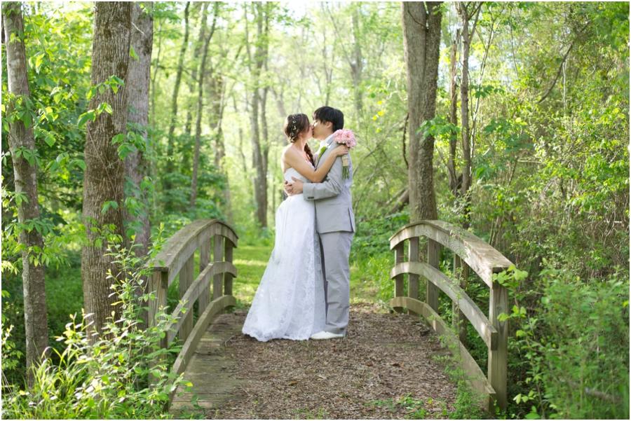 romantic forest wedding portraits, rustic raleigh nc wedding photographers