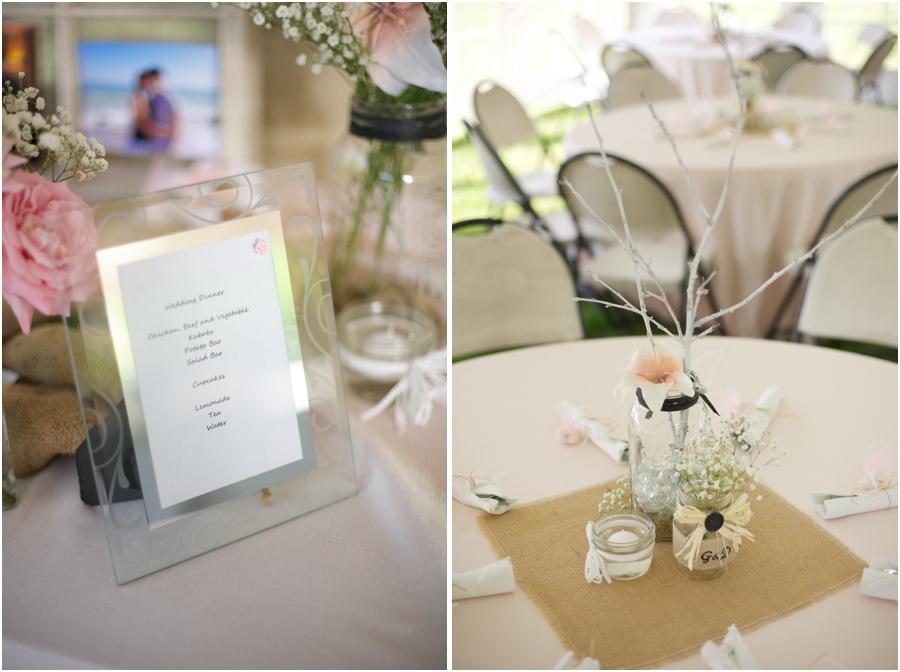 reception menu, rustic wedding reception, southern wedding photographers