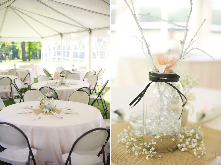 beautiful floral centerpieces from Fifty Flowers, spring wedding photography