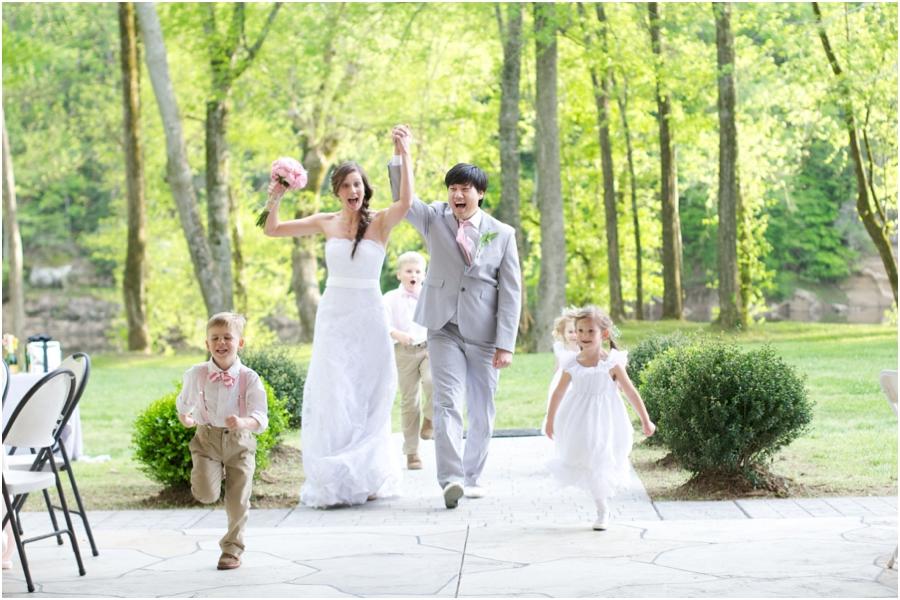 bride and groom at wedding reception, Bob Barker Retreat wedding photography