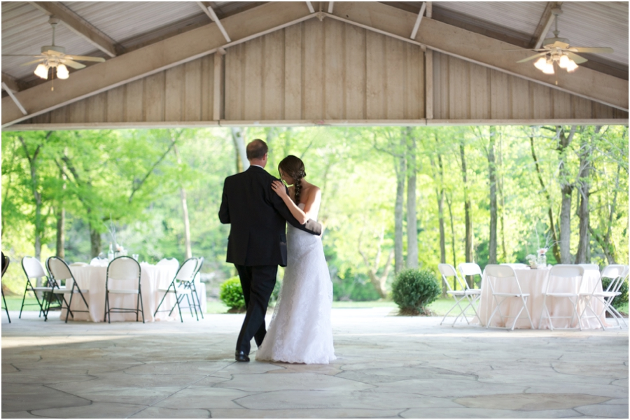 father daughter dance, rustic spring wedding photography