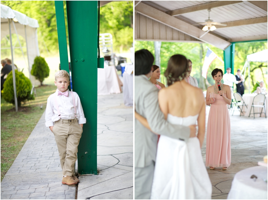 ring bearer at wedding reception, outdoor wedding photography