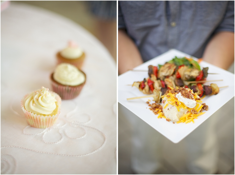 cupcakes at wedding reception, wedding reception food inspiration