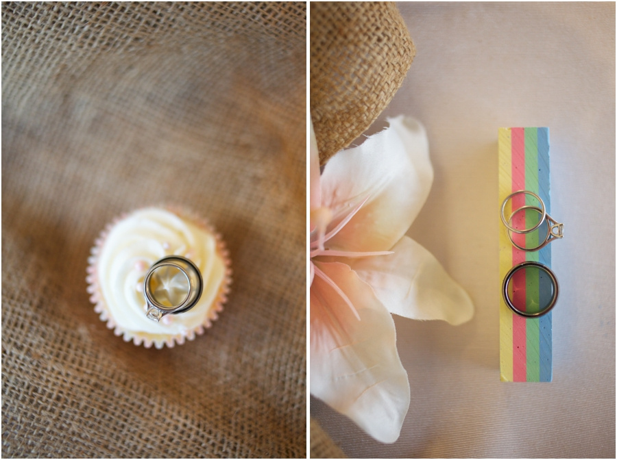 cool ring shot ideas, wedding rings on creamy cupcake, rustic ring shot photography