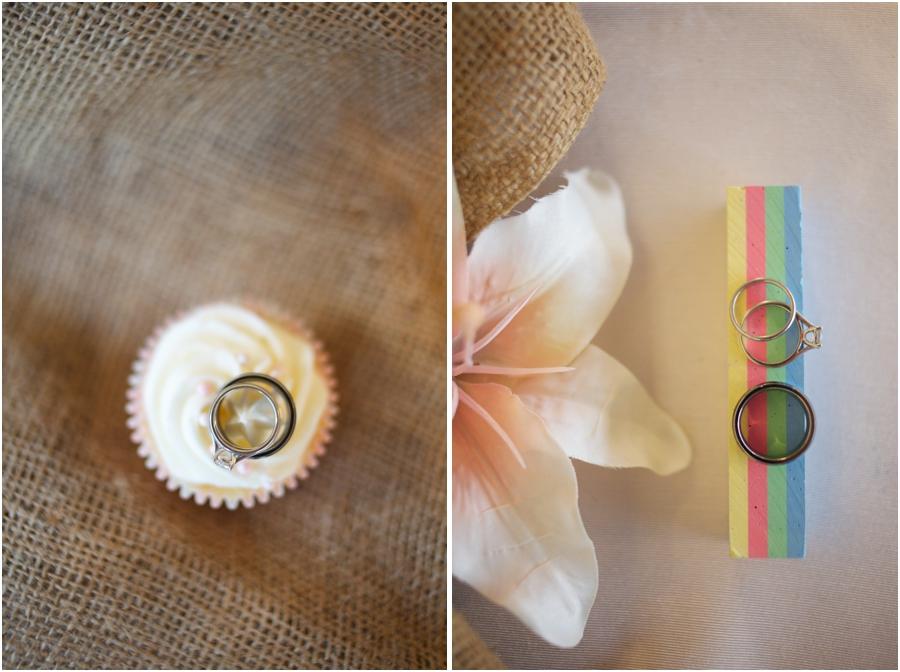 cool ring shot ideas, wedding rings on creamy cupcake, rustic ring shot photography