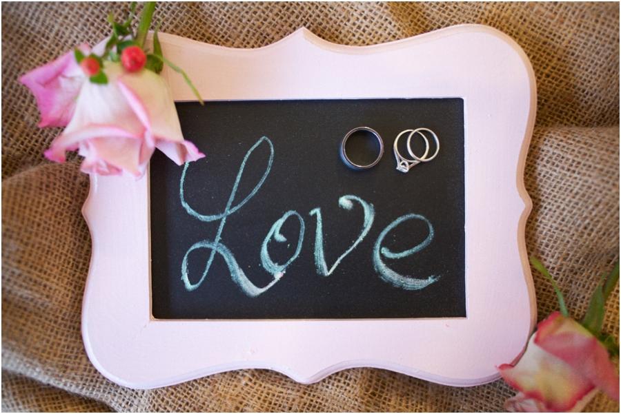 cute ring shot photography, wedding rings on chalkboard, rustic wedding photographers