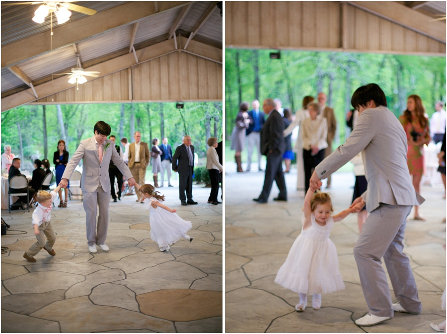 groom dancing with ring bearer and flowergirl, cute wedding reception photography