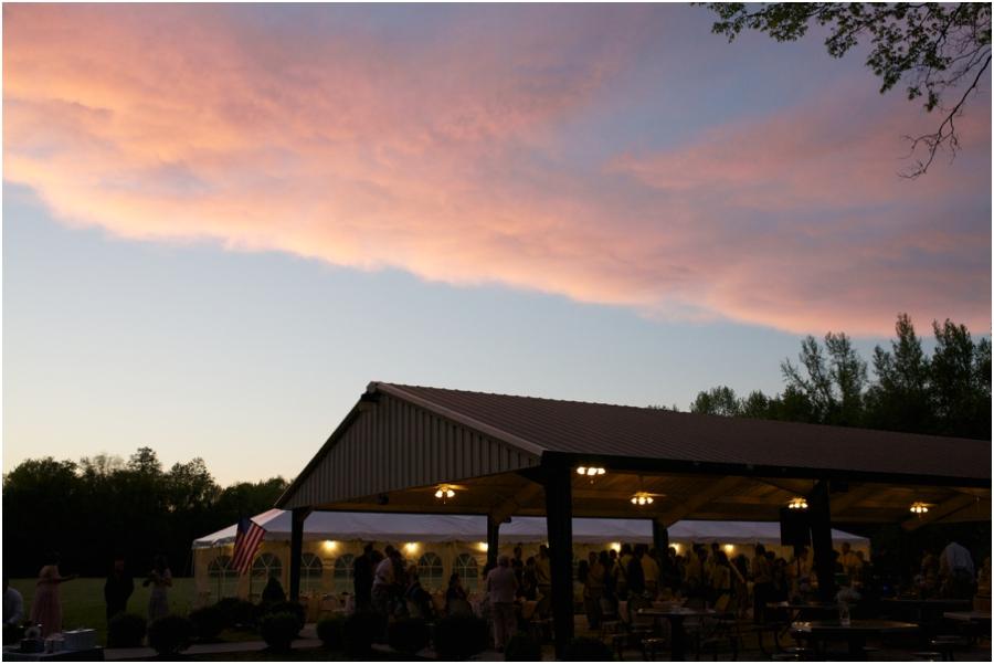 sunset wedding photography, outdoor wedding reception photography