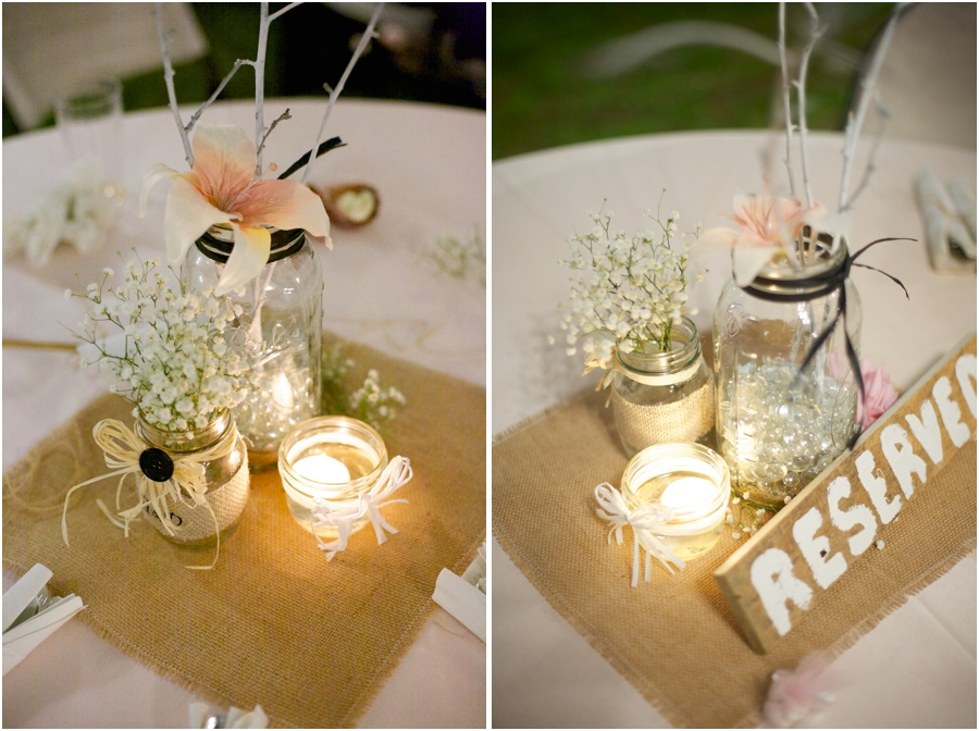 beautiful rustic table centerpieces, rustic wedding photographers