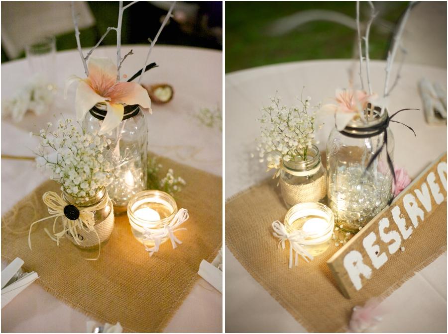 beautiful rustic table centerpieces, rustic wedding photographers