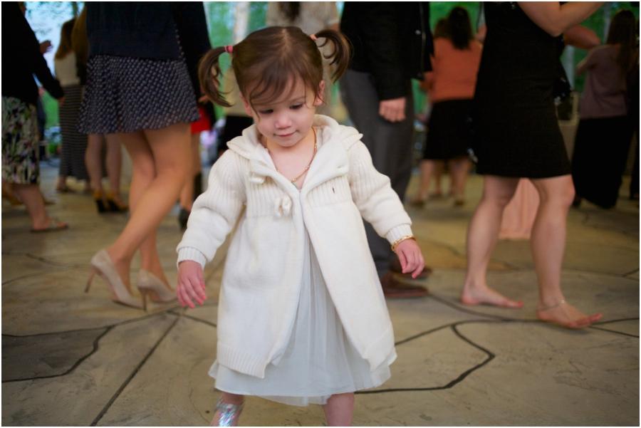 cute little girl at wedding reception, north carolina wedding reception photography