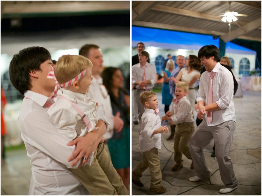 fun wedding reception photography, rustic raleigh nc wedding photographers